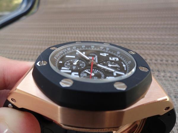 Réplica de relojes Royal Oak Offshore reloj de oro rosa
