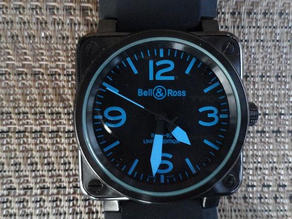Réplica de Bell & Ross Carbono Azul Reloj