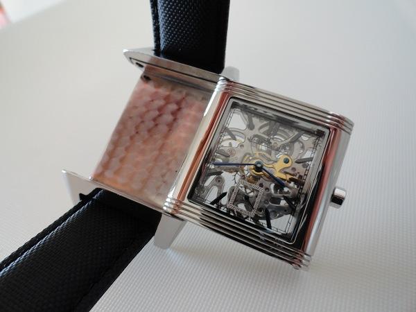 Imitacion Jaeger LeCoultre Reverso esquelético del reloj de zoom