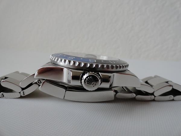 Rolex GMT Master II Azul Bisel Reloj de la reproducción Vista lateral