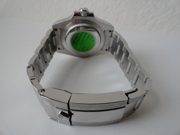Rolex GMT Master II Azul Bisel Reloj de la reproducción de la parte trasera Ver