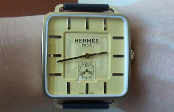 reloj de la reproducción de Hermes Carre H