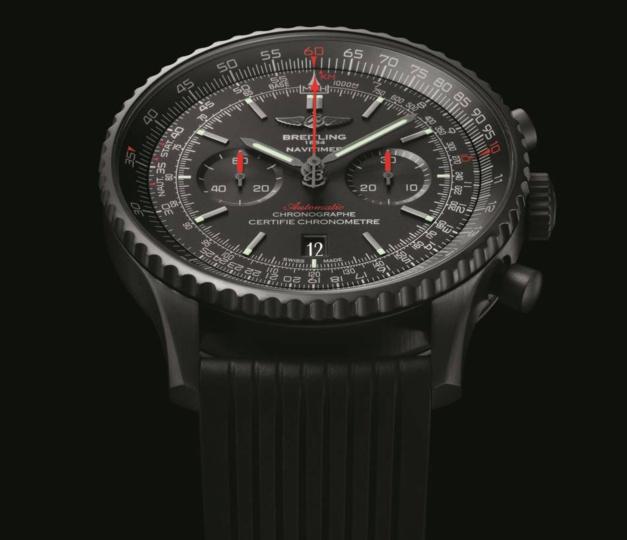 70b5bc55bc6 Breitling Navitimer 46 Blacksteel Replicas Relojes