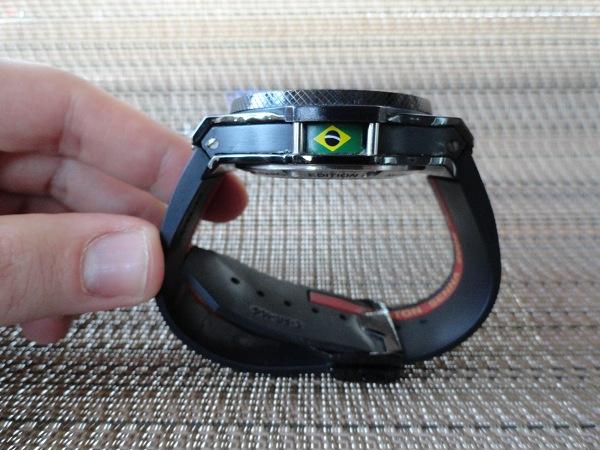 Hublot Ayrton Senna Edición reloj réplica vista lateral