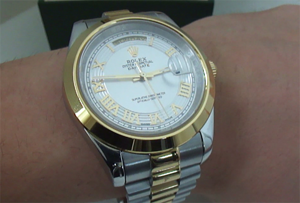 rolex daydate two tone replica