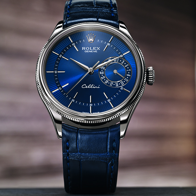 Casos de oro blanco Rolex Cellini Fecha de Relojes De Réplica