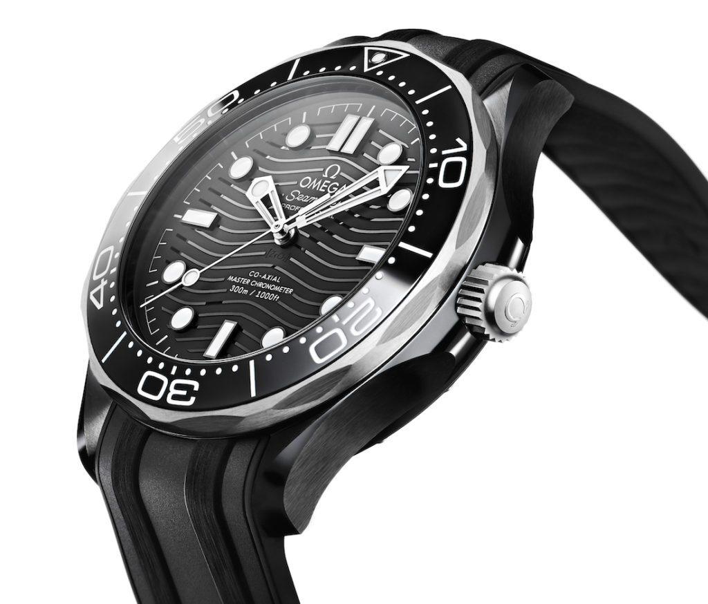 Omega Seamaster Diver 300M Replica En Cerámica Negra Y Titanio