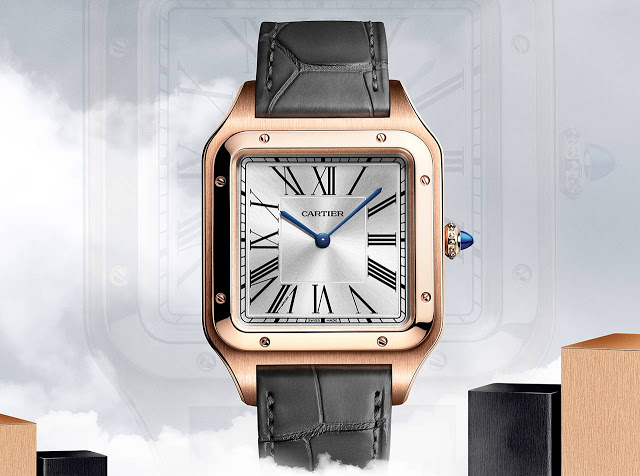 Replicas Cartier Santos Dumont XL Hand Wound