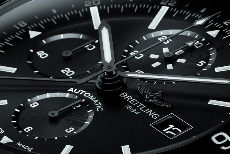 Replicas Breitling Chronoliner Acero Negro